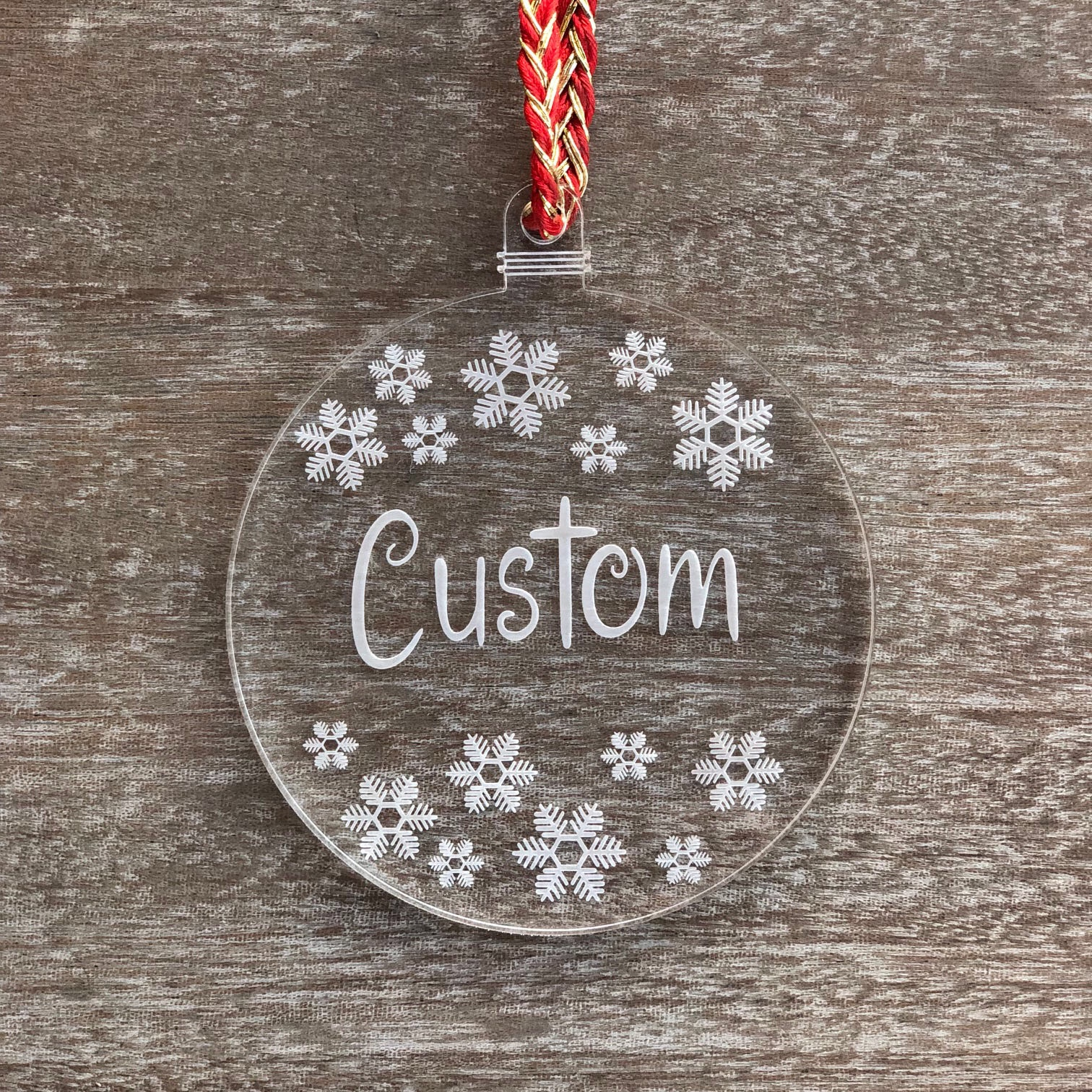 Personalized Laser Engraved Christmas Ornamen