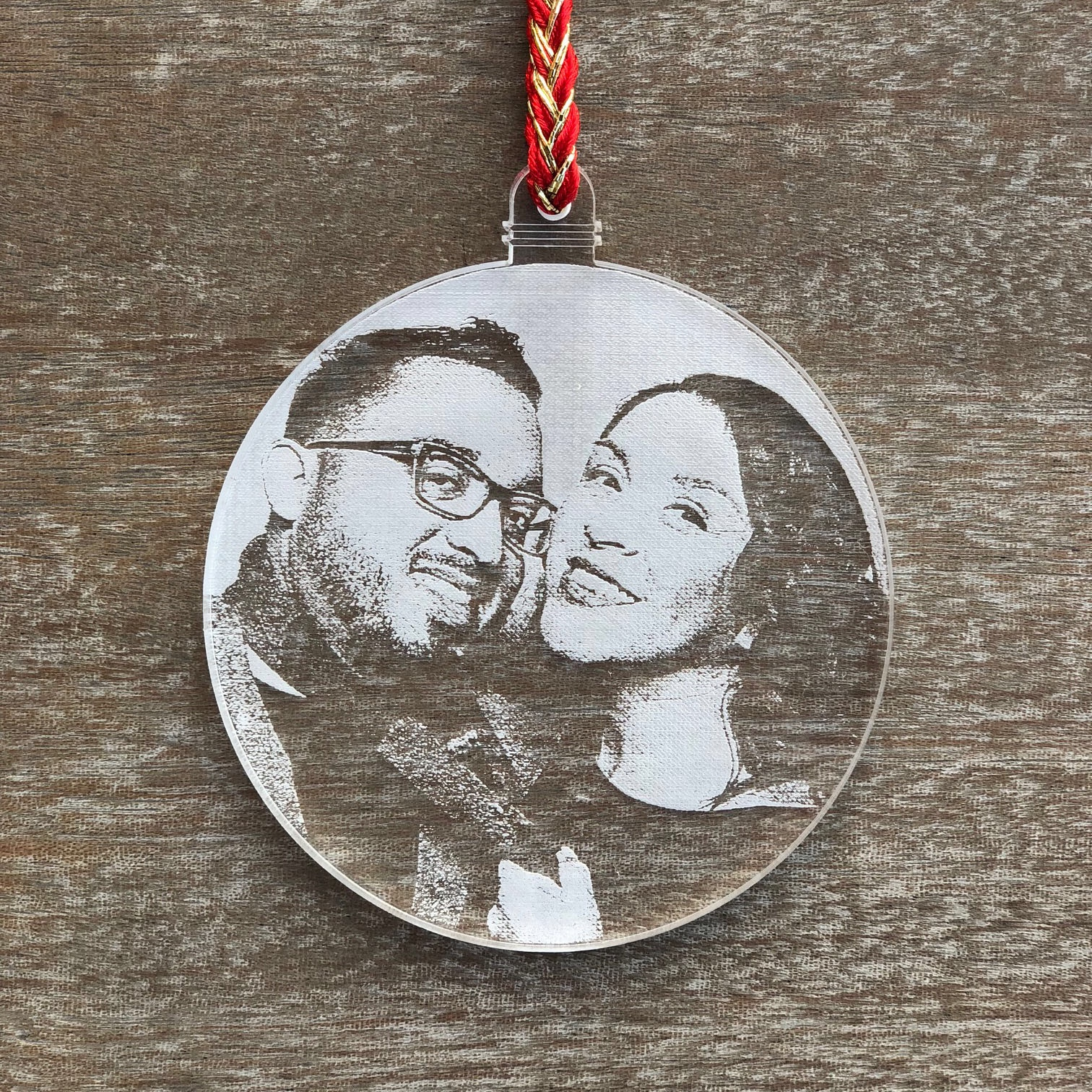 Personalized Laser Engraved Christmas Ornament